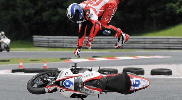 susto y caida en moto caida volando