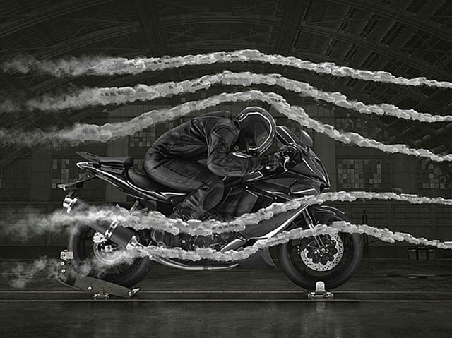 El Viento en moto tunel