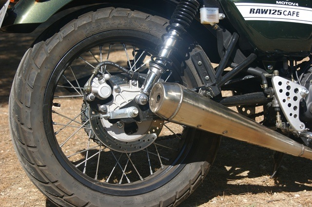 Hanway Raw 125 cafe racer escape