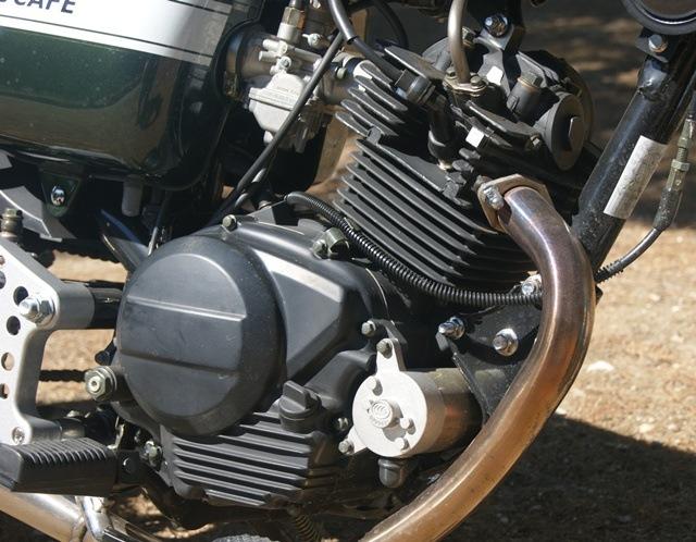 Hanway Raw 125 cafe racer motor