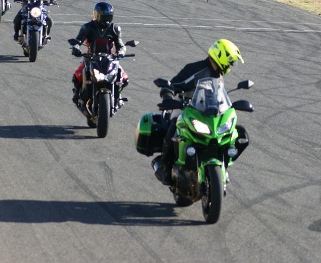 Kawasaki Versys 1000 en una avenida