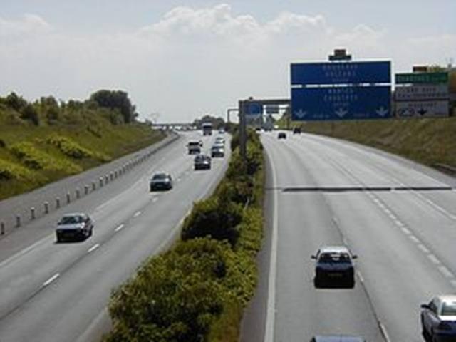 Moto momento celestial autopista francesa