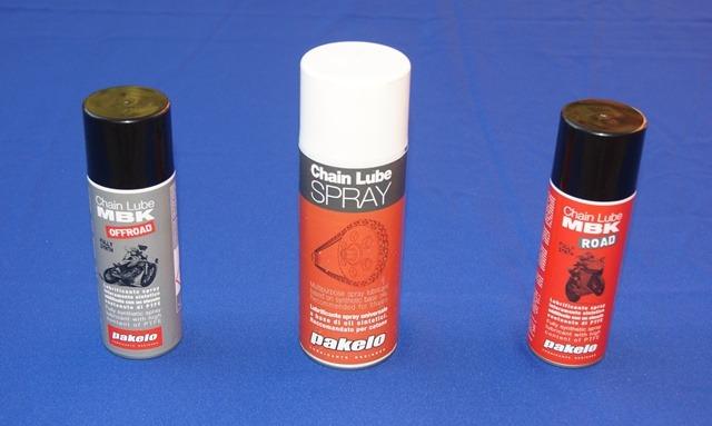 Spray Pakelo cadena moto distintos envases