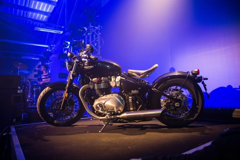 Nueva Triumph Bonneville Bobber en el stand