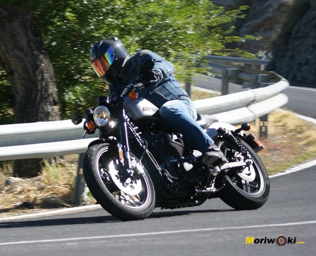 Harley davidson sportster roadster en marcha
