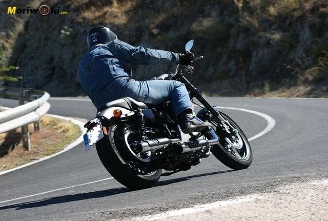 Harley Davidson sportster roadster por detrás