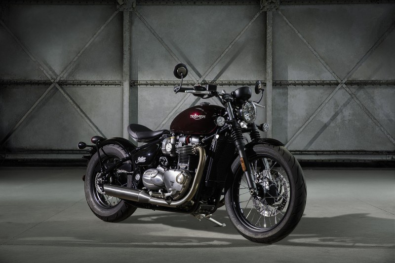 Nueva Triumph Bonneville Bobber expuesta
