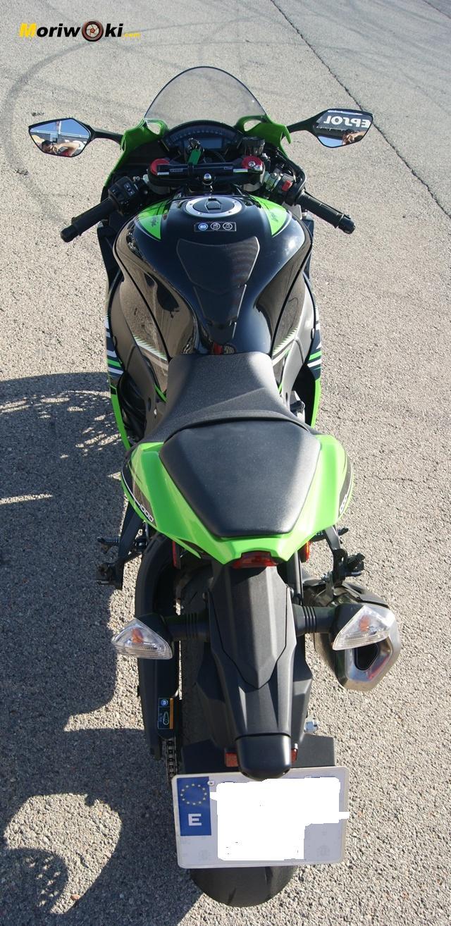 Kawasaki ZX10 desde arriba