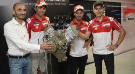 Asi es el nuevo motor V-4 de Ducati