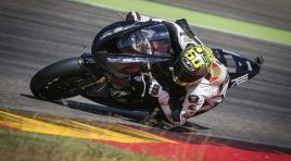 El nuevo tricilíndrico de Moto2 probado en Motorland