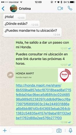 Honda Mapit mensaje