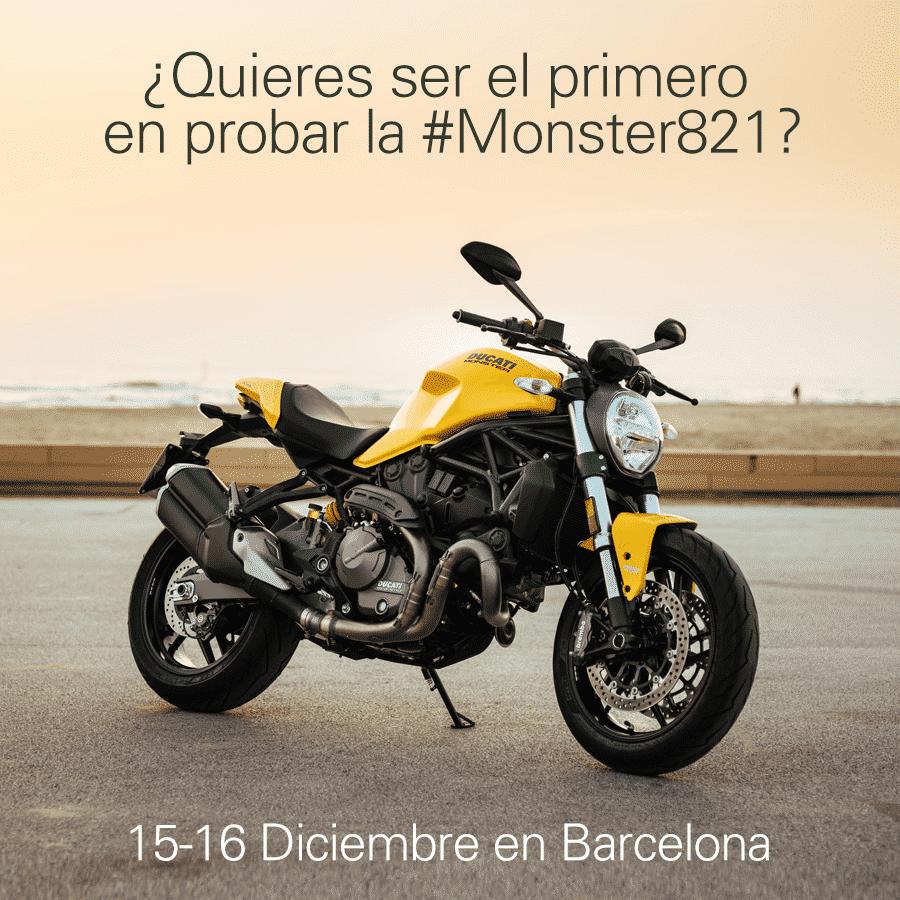 2 Días para probar la Ducati Monster 821 en Barcelona