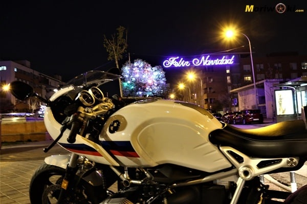 La Noche Vieja en moto feliz navidad