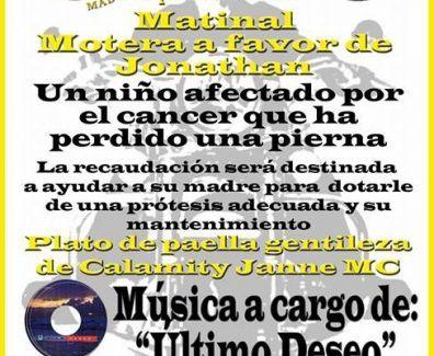 Acto solidario motero en Torrejón de la Calzada