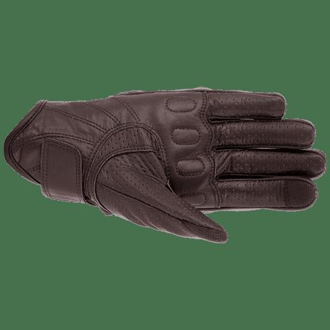 Guantes-Aston-Vquattro-perforados marrones palma