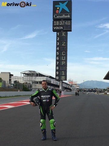 European-Kawasaki-Z-Cup-2018-Montmeló. En la recta