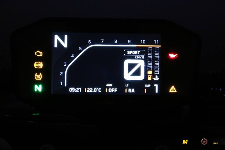 Prueba KTM 790 Duke noche