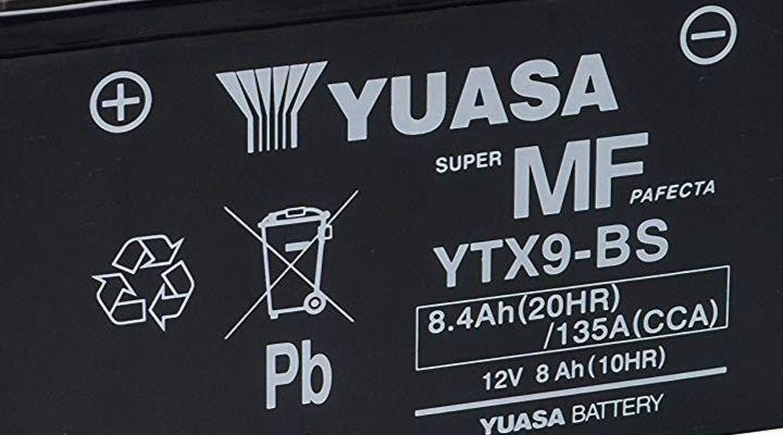Batería AGMYuasa YTX9-BS