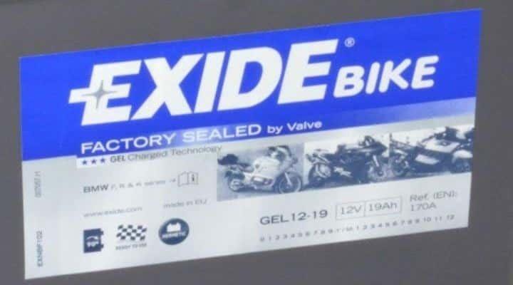Batería de Gel Exide G19