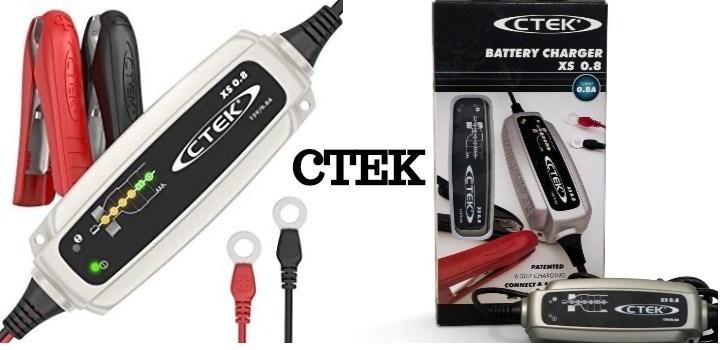 Cargador de baterías de motos CTEK 0.8 pequeño