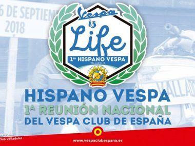 Hispano Vespa Vespa Club España Cartel
