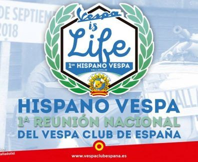 Hispano Vespa Vespa Club España Cartel