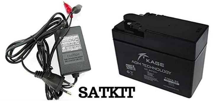 Cargador de baterias de moto SATKIT
