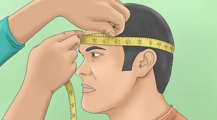 medir contorno de la cabeza