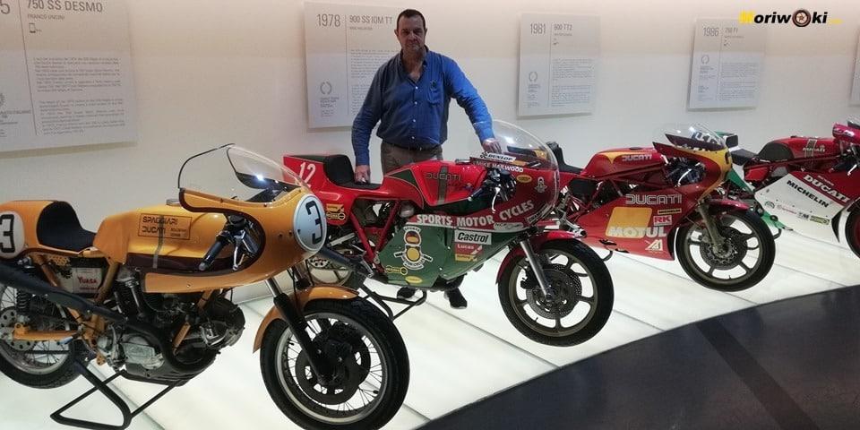 Moriwoki en el museo Ducati