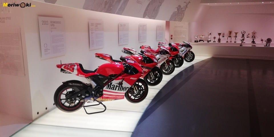Desmosedicis en el museo Ducati