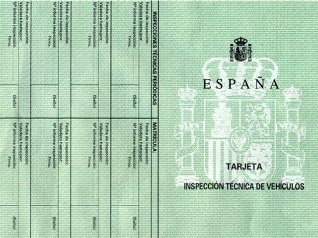 tarjeta de inspeccion tecnica de vehiculos