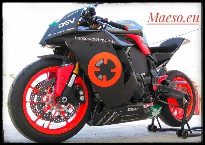 La Yamaha MT07 preparada por Maeso