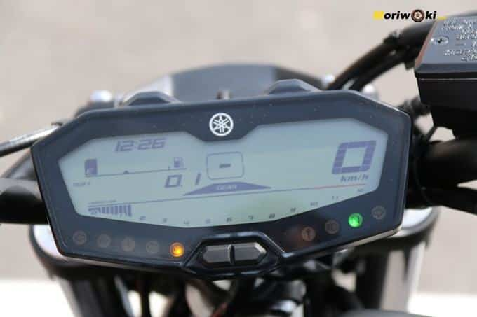 Display de la Yamaha MT07