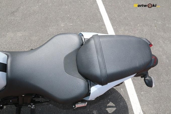 Asiento de la Yamaha MT07