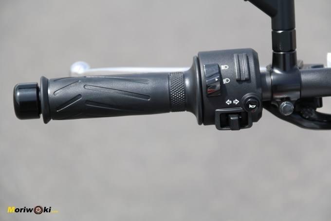 Yamaha MT07, piña izquierda