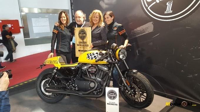 Ganadora de La Batalla Harley Davidson en Vive la Moto de Barcelona