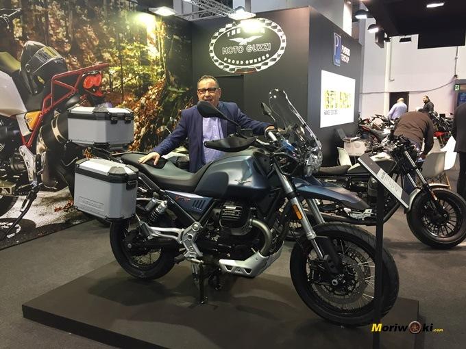 La Moto Guzzi V85 TT en Vive la Moto de Barcelona