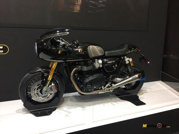Triumph Thruxton TFC presentada en Vive la Moto Barcelona 2.019