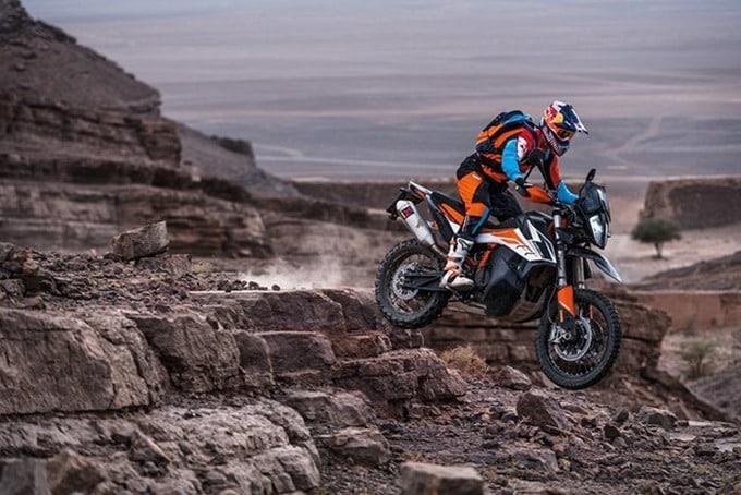 La KTM 790 Adventure R en África.