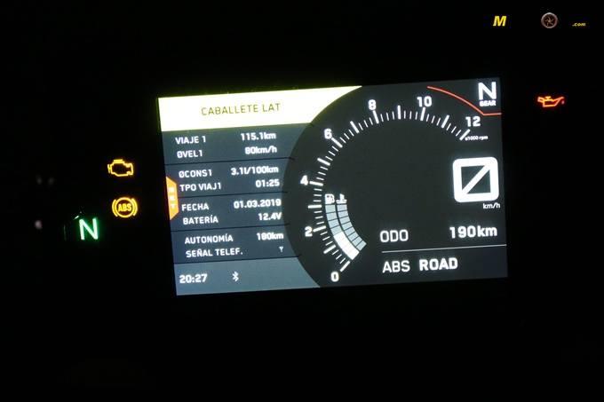 Información nocturna en la KTM 125 Duke.