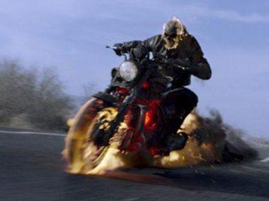 La moto con calor