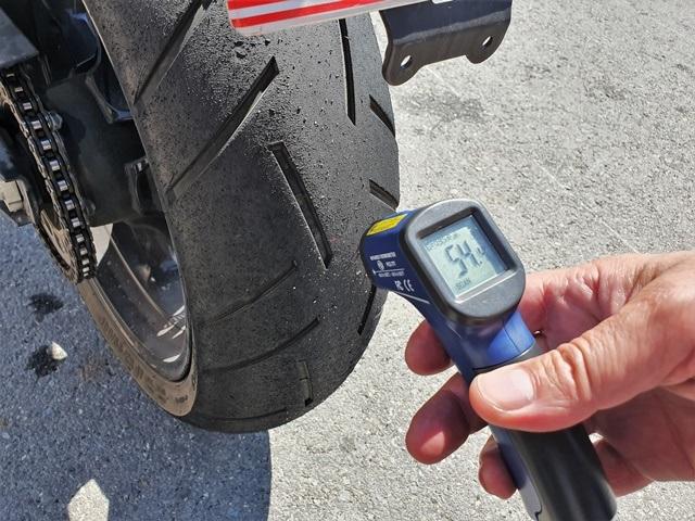 Temperatura del Continental Sport tras rodar en tiempos de récord.
