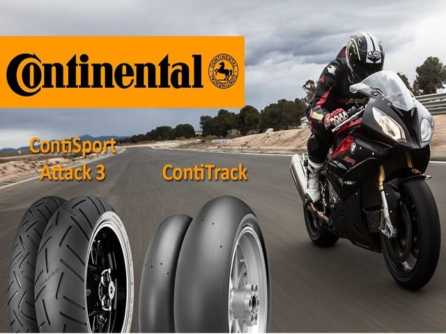 Tipos de neumáticos ContiSport Attack 3 y ContiTrack