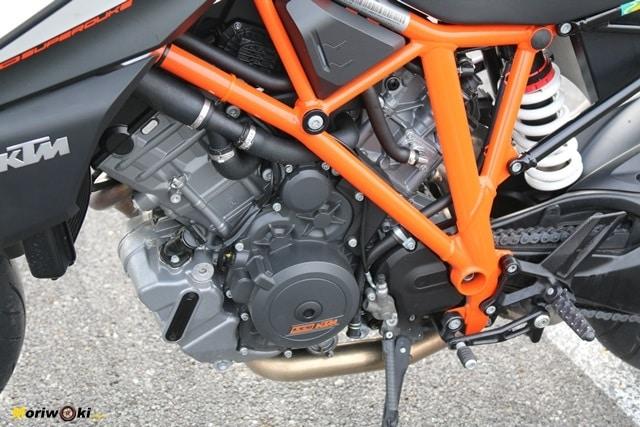 El chasis multitubular en la Prueba KTM 1290 Super Duke R.