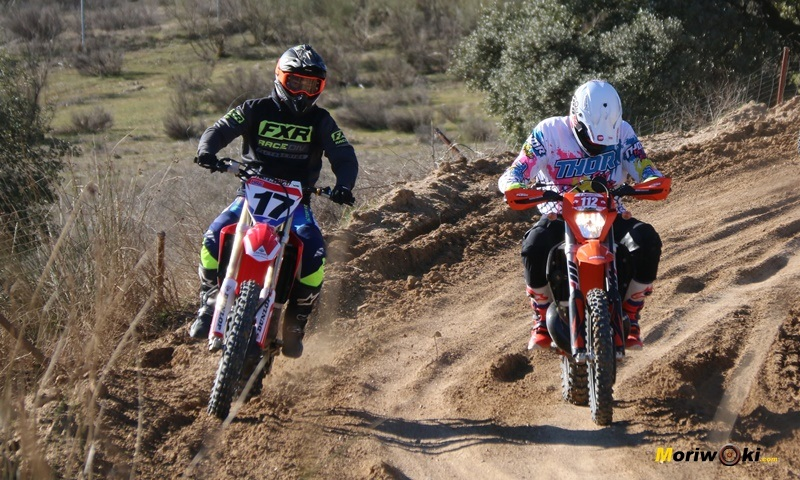 Curso de moto off road. Supervisión dinámica.