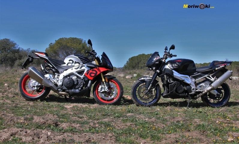 Una moto Con electronica y otra sin electronica