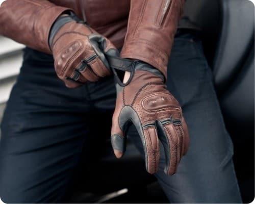 como se usa guante moto hombre