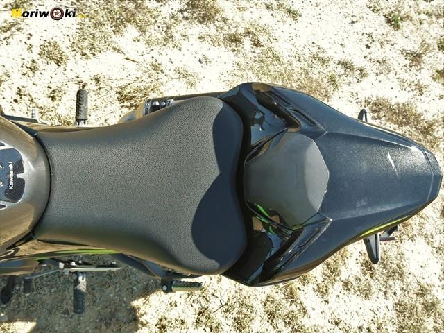 El asiento de la Kawasaki Z900 2020.