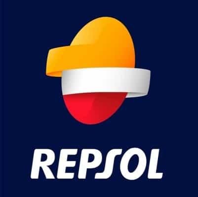 Logo Repsol aceites 20w50.
