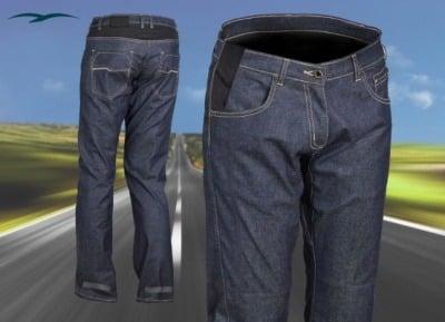 pantalones vaqueros para moto azules